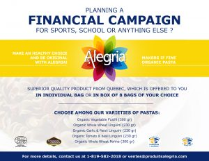 Financial campaign - Alegria Products