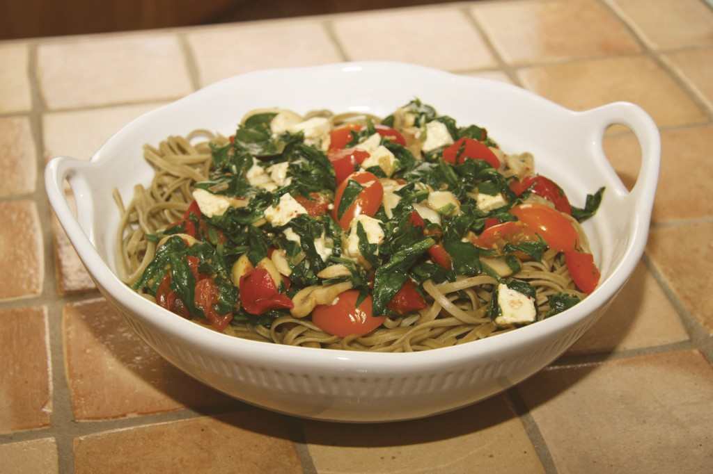 Vegetable Pasta with Feta